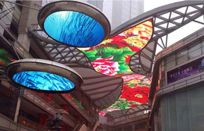 Ceiling  type round and irregular shape led video display