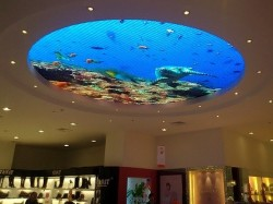 Ceiling round led screen