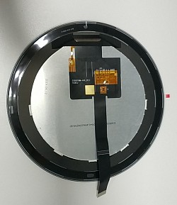 "5"" Round shape LCD video display with frame"
