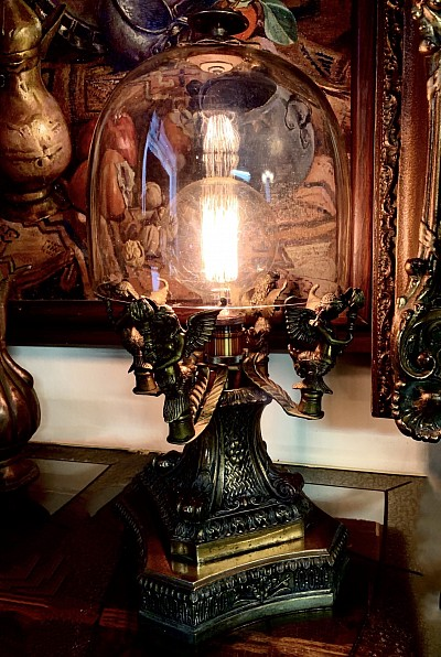 """ANGELS"" Antique Lamp - Hand Made"